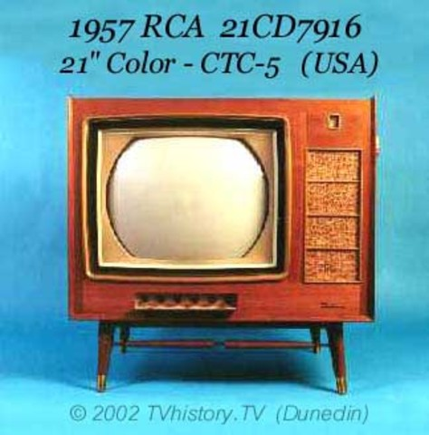 "1957 RCA 21CD7916 21"" Colour-CTC-5 (USA)"