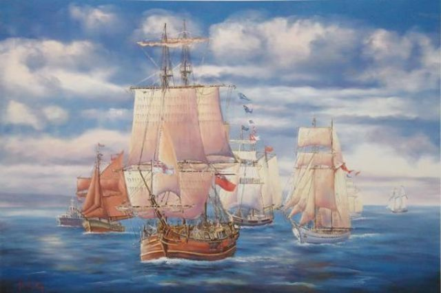 The First Fleet departed from England