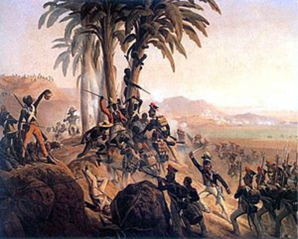 Haiti decalres Independence from France.
