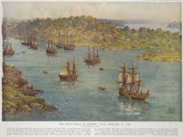 The First Fleet arrived at Botany Bay