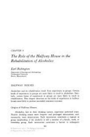 Half Way Houses