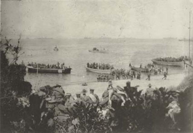 Australians landed in gallipoli