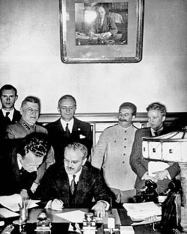 Germany and Soviet Union sign the Nazi-Soviet Non-Agression Pact