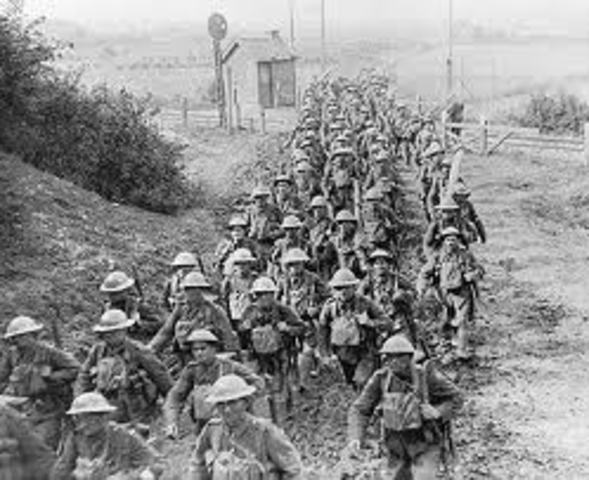 L'Angleterre declare la guerre a l'Allemagne