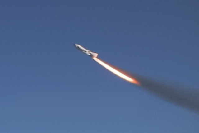 First Private Manned Spacecraft Blasts Off
