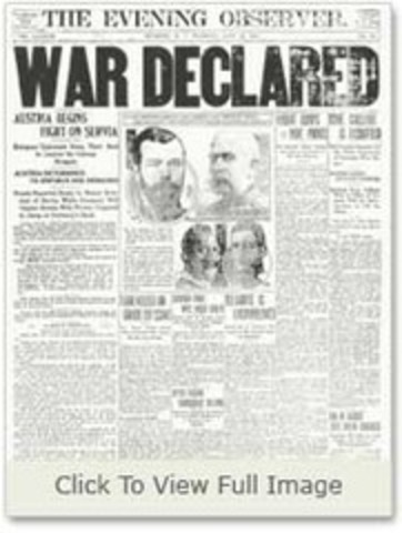 Austria-Hungary Declares War on Serbia! :( Beginning of War!