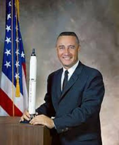 Gus Grissom is launched on a sub-orbital flight.
