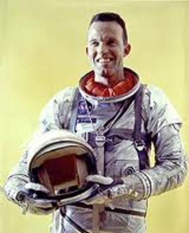 L. Gordon Cooper spends 34 hours in space. He is the last American to fly in space alone.