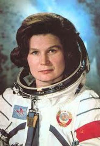 Cosmonaut Valentia Tereshkova becomes the first woman in space.