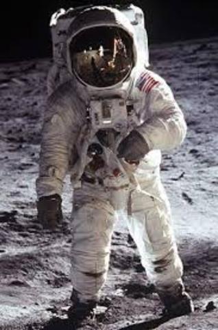 Alexei Leonov performs the first spacewalk on the moon.