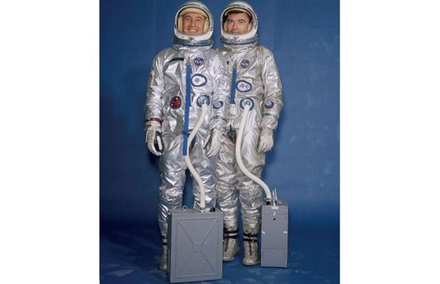 Gus Grissom and John Young fly the first manned Gemini spacecraft.