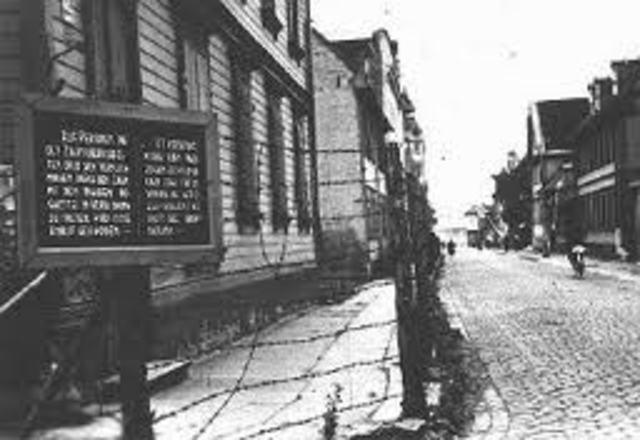 Ghetto Established in Lódz, Poland