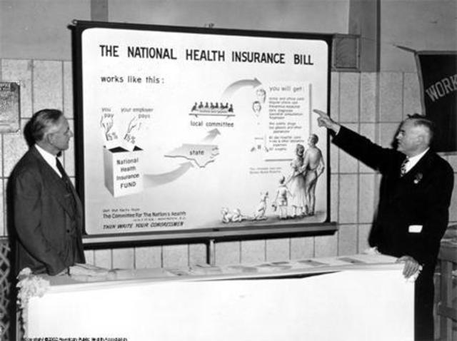 Truman  Calls for National Health Insurance