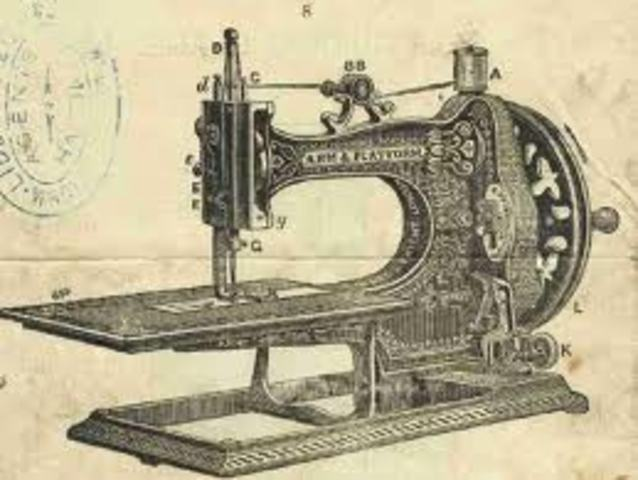The sewing machine is invented