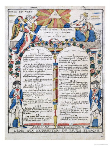 The declaration of Rights of Man and the Citizen