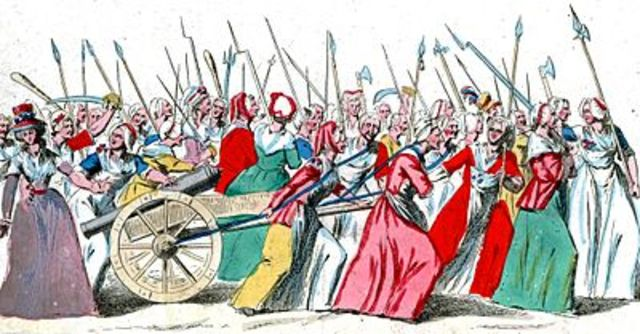 March on Versailles of the Paris woman
