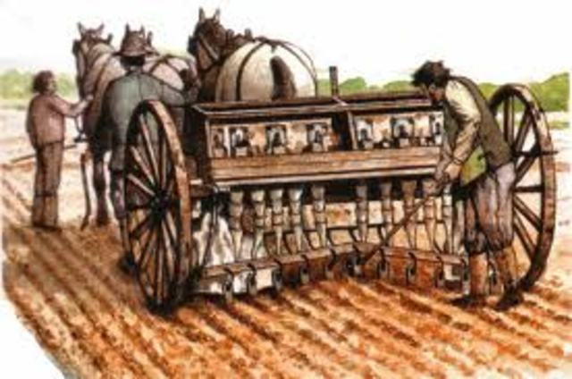 The seed drill is invented
