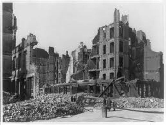 Allied Bombing of Hamburg, Germany