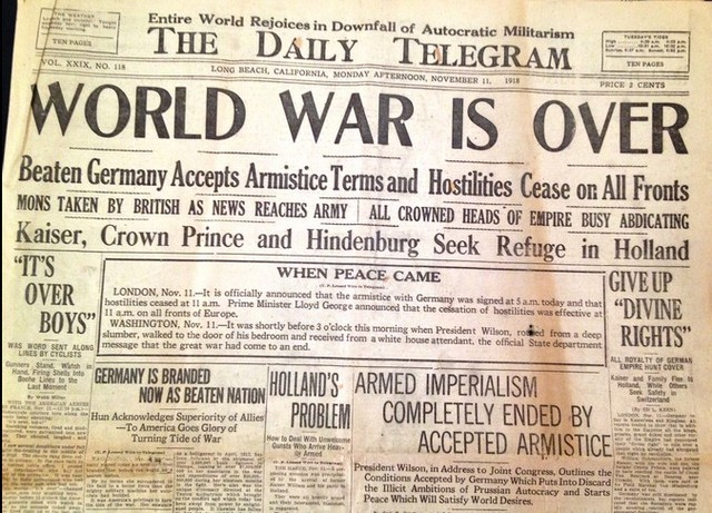 End of World War One
