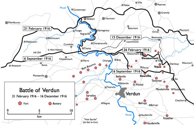The Battle of  Verdun (Verdun all Bridie)