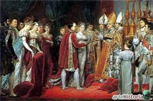 Carlos IV abdica a favor de su hijo, Fernando VII