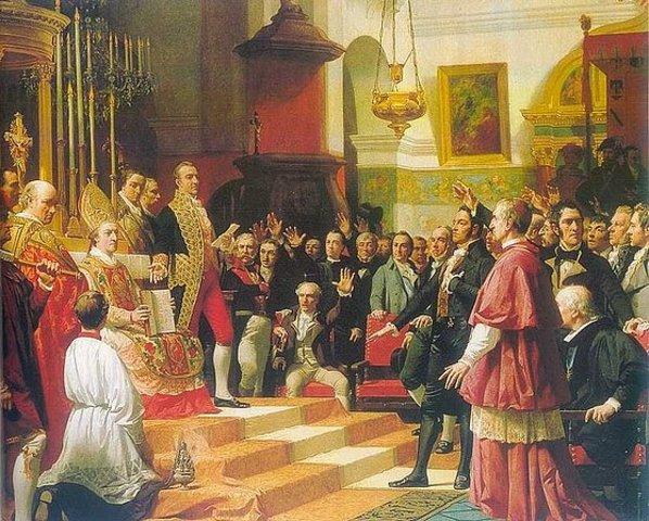 Se reúnen las cortes de Cádiz.
