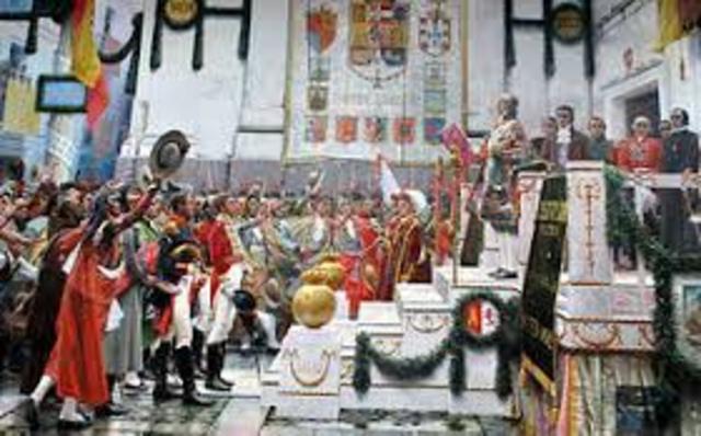 Se proclama a la primera Constitución española.