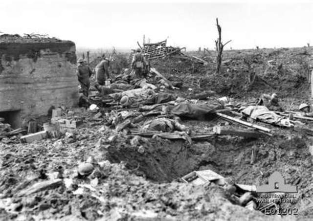 Battle of Passchendaele when Australians got involved