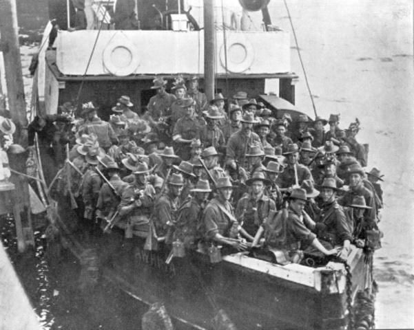 troops leave albany WA