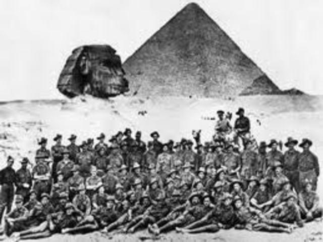 Anzacs Training in Egypt