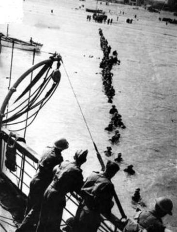 20,000 british soldiers secretly brouught ashore