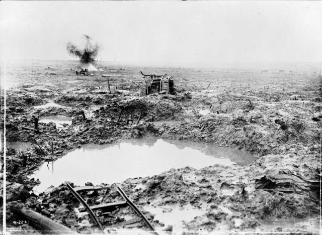 The End of the Battle of Passchendaele (Picture is a Primary source)