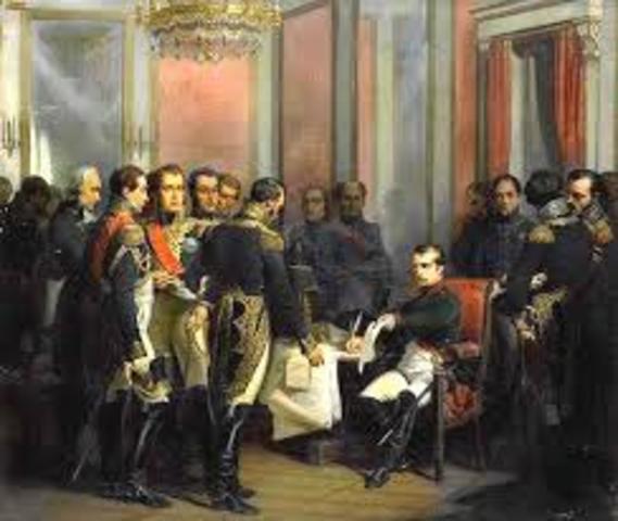 España y Francia firman el Tratado de Fontainebleau