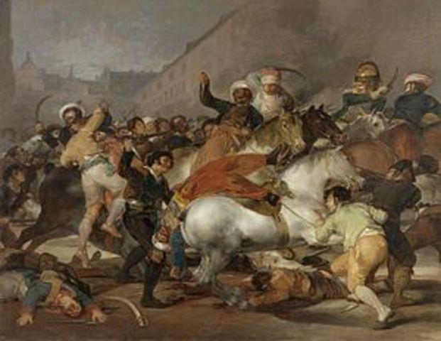 El pueblo de Madrid se levanta contra la ocupación francesa y comienza la guerra de independencia.