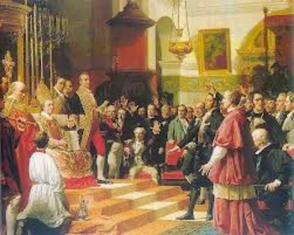 Se reúnen las Cortes en Cádiz