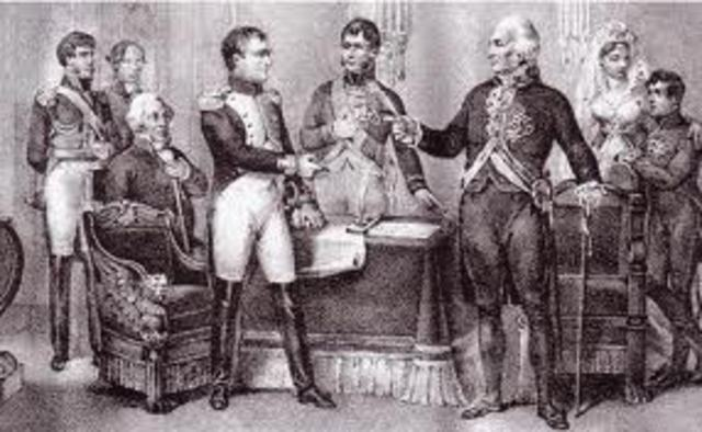 Carlos IV abdica en favor de su hijo , Fernando VII