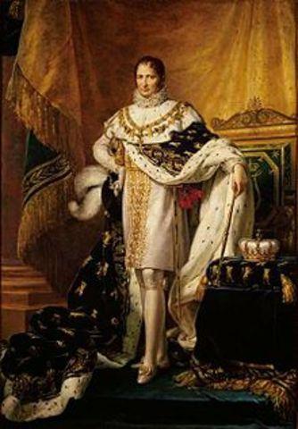 Napoleón Bonaparte nombra rey de España  a su hermano,José I
