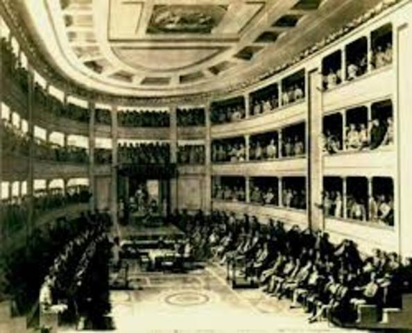 Se reúnen las Cortes en Cádiz.