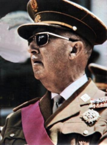 Termina la guerra civil y comienza la la dictadura del general Franco