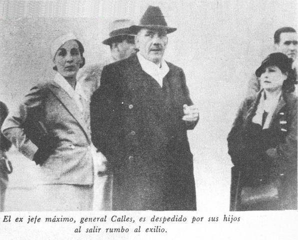 Exilio de Elías Calles