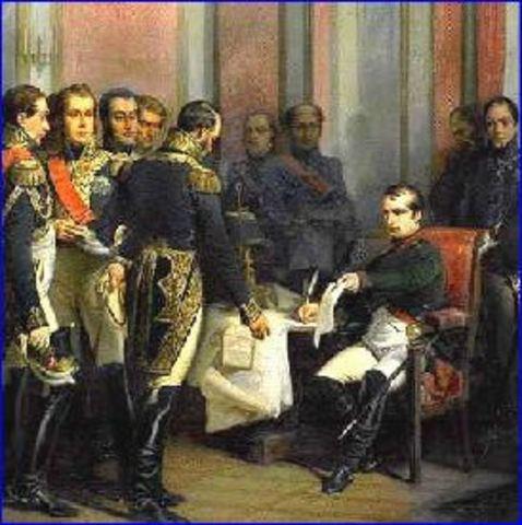 España y Francia firman el Tratado de Fontainebleau.