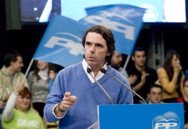 EL PP CON JOSE MARIA AZNAR AL FRENTE GANA LAS ELECCIONES GENERALES