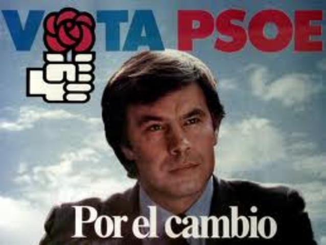 el PSOE con Felipe Gonzáles al frente, gana las elecciones