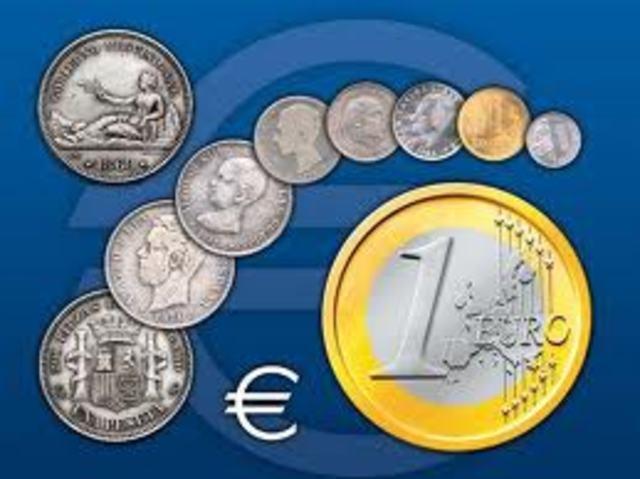 El euro sustituye a la peseta