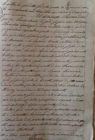 Matrimonio Giuseppe Gaetano Maria Pancini-Gaetana Tinelli