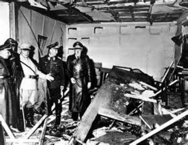 Assassination attempt by German Army officers against Hitler fails.