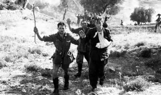 German troops in Italy surrender.