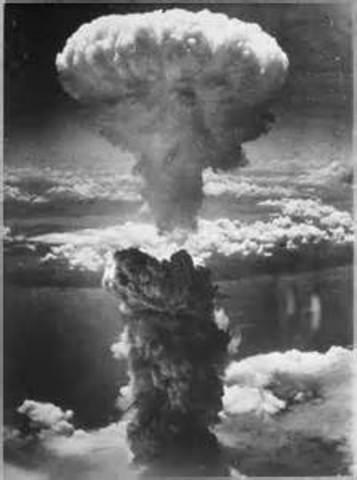 First atomic bomb dropped, on Hiroshima, Japan.