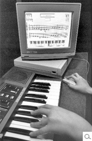 Amiga 1000 with Seiko Music Keyboard