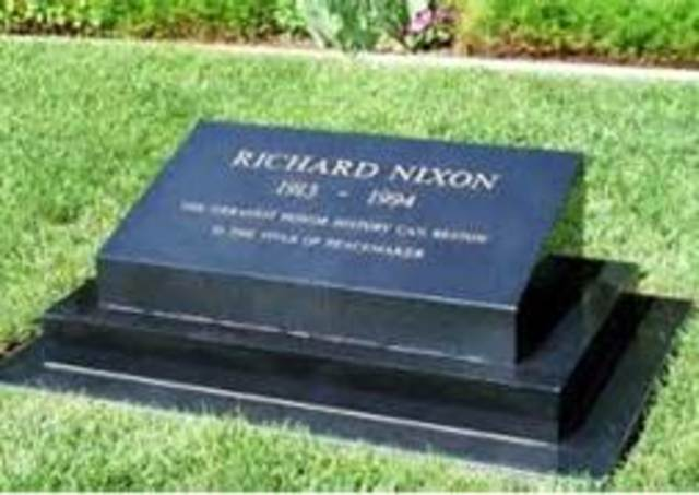 NIXON DIES AND GETS HIS LAST BOOK PUBLISHED